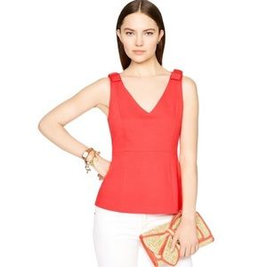Kate Spade Dive Right In Sleeveless Peplum Blouse